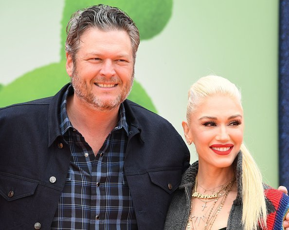 "Gwen Stefani and Blake Shelton arrive at the STX Films World Premiere Of ""UglyDolls"" at Regal Cinemas L.A. Live 