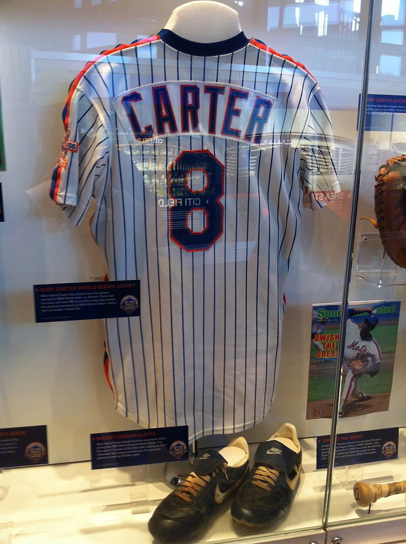 Gary Carter's jersey displayed at Citi Field Hall of Fame & Museum in New York | Source: Wikimedia