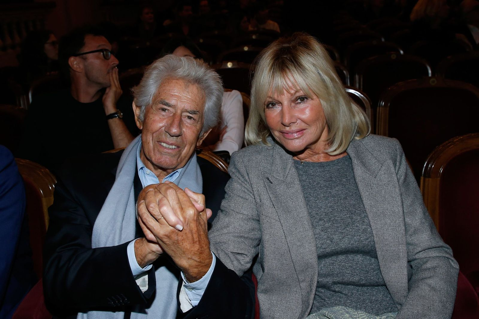 Le journaliste Philippe Gildas et sa compagne Maryse   Photo : Getty Images.