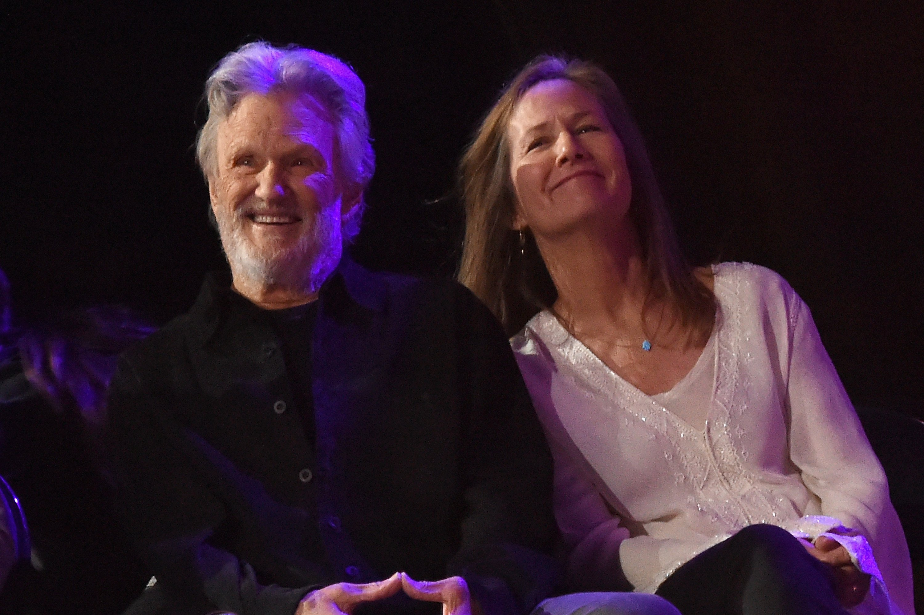 Kris Kristofferson and Lisa Meyers attend The Life & Songs of Kris Kristofferson at Bridgestone Arena in Nashville, Tennessee | Photo: Getty Images