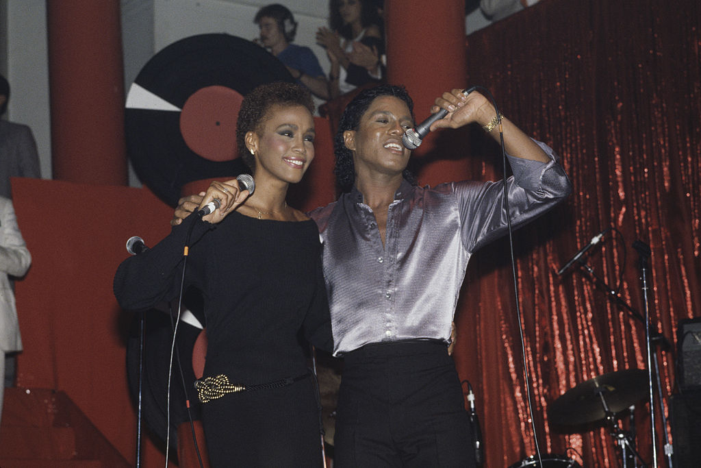 Whitney Houston and Jermaine Jackson. Image Credit: Getty Images