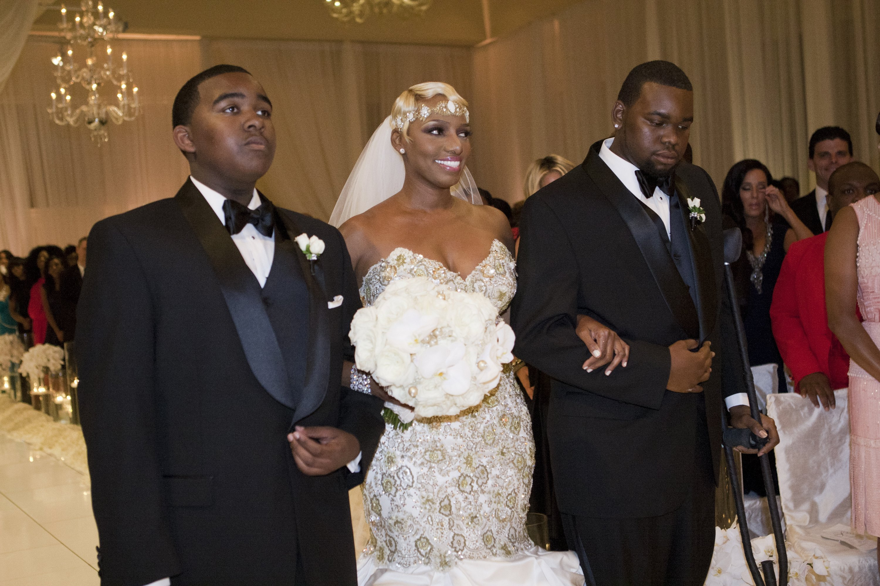 Brentt Leakes, Nene Leakes, and Bryson Bryant at Nene's vow renewal ceremony| Photo: Getty Images