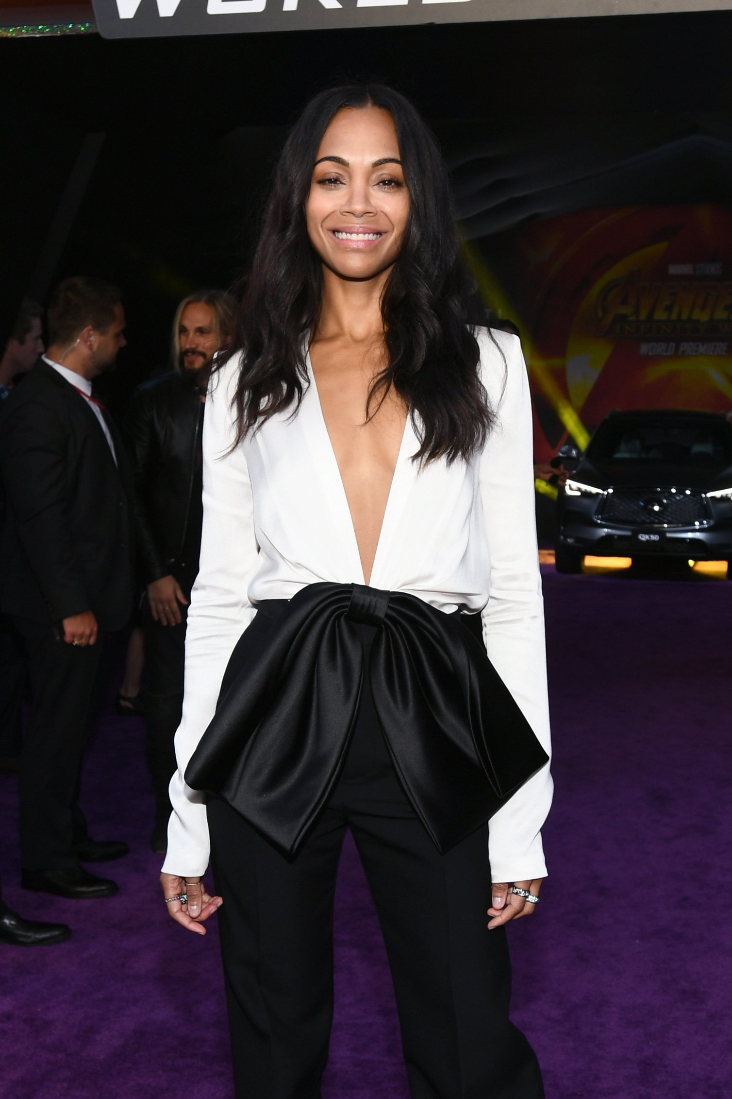 Zoe Saldana attends the premiere of Disney and Marvel's 'Avengers: Infinity War'. April, 2018. | Photo: GettyImages