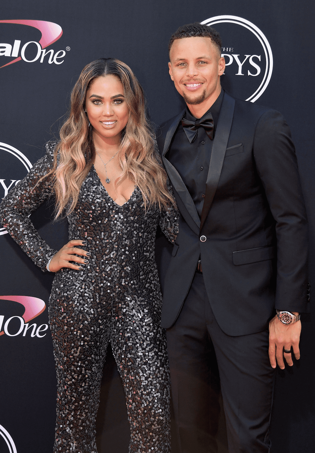 """Ayesha and Stephen Curry at """"The ESPYS"""" at Microsoft Theater on July 12, 2017 in Los Angeles, California 