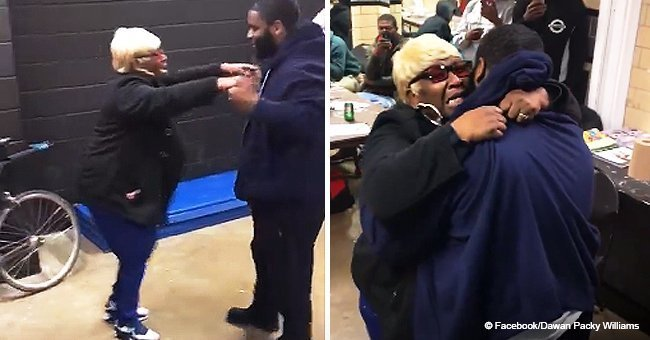 Raheem reuniting with his mom after 21 years.   Source: YouTube