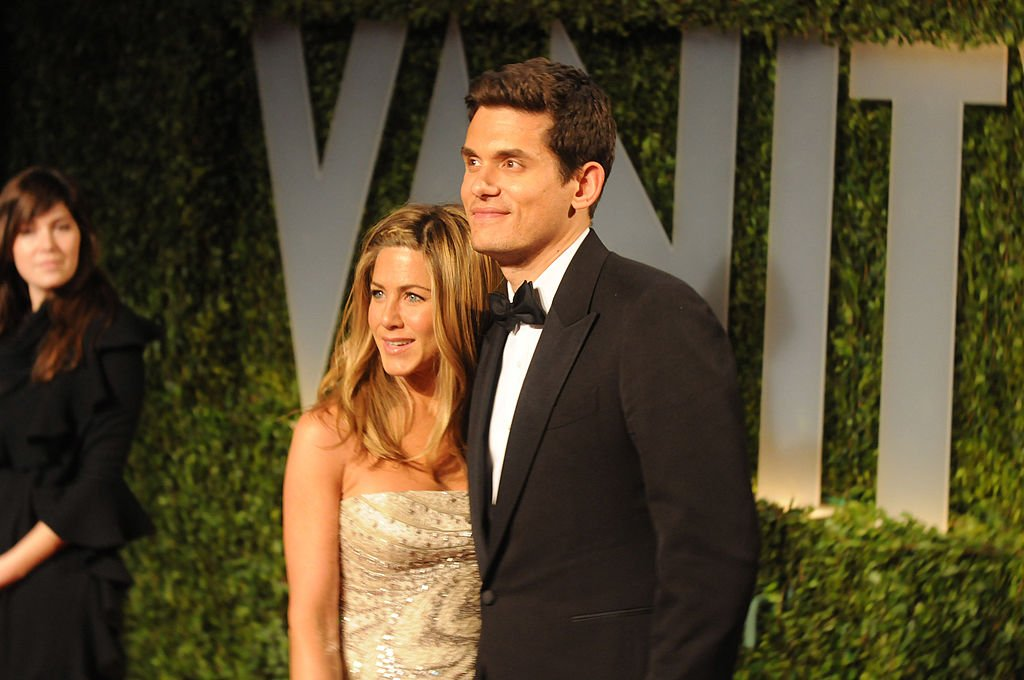 Jennifer Aniston and John Mayer arrive at the Vanity Fair Oscar Party,  February 2009   Source: Getty Images