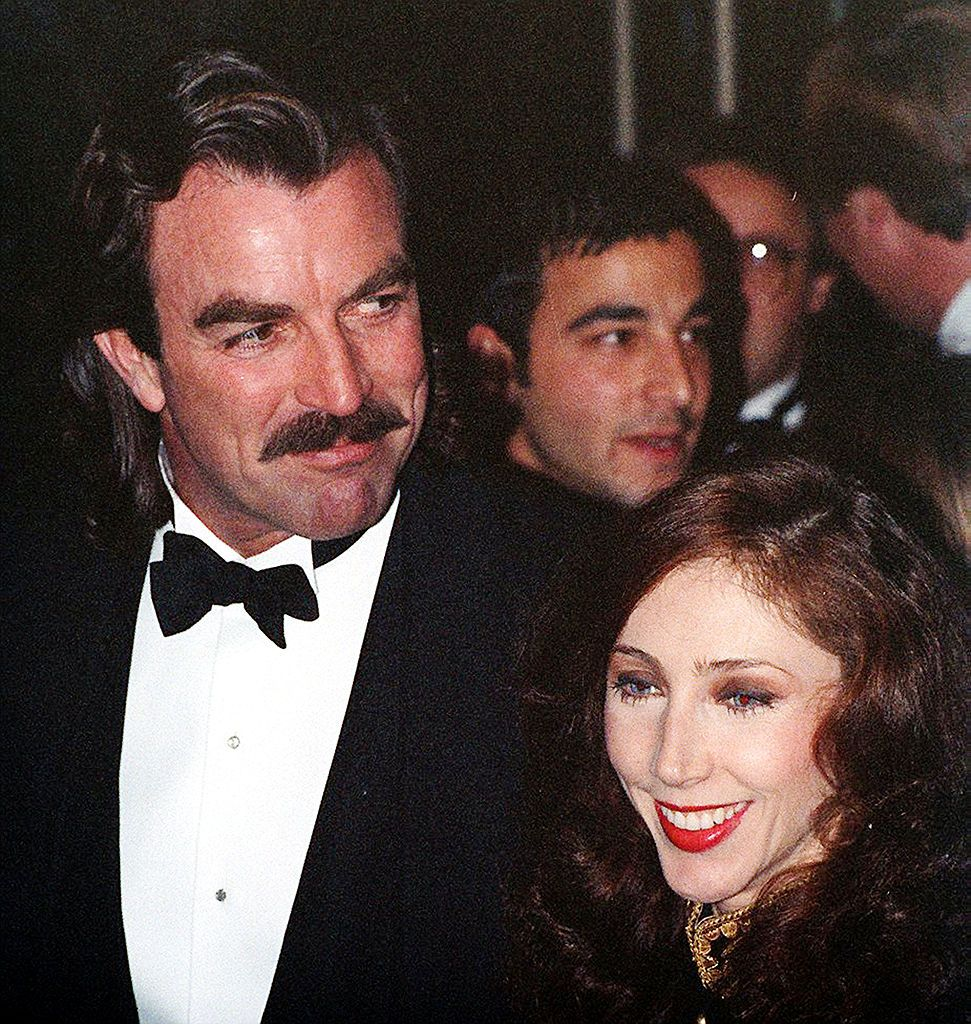Tom Selleck and his wife, Jillie Mack, at a red carpet event circa 1990. | Source: Getty Images