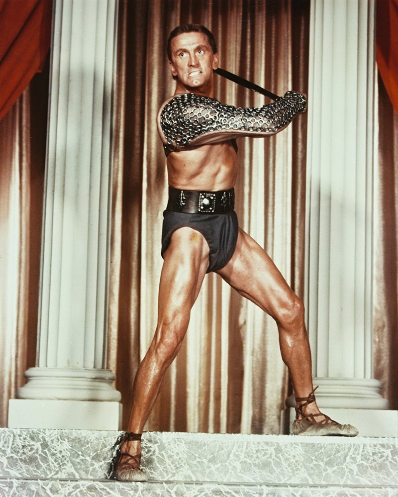 """Kirk Douglas in """"Spartacus"""" (1960). I Image: Getty Images."""