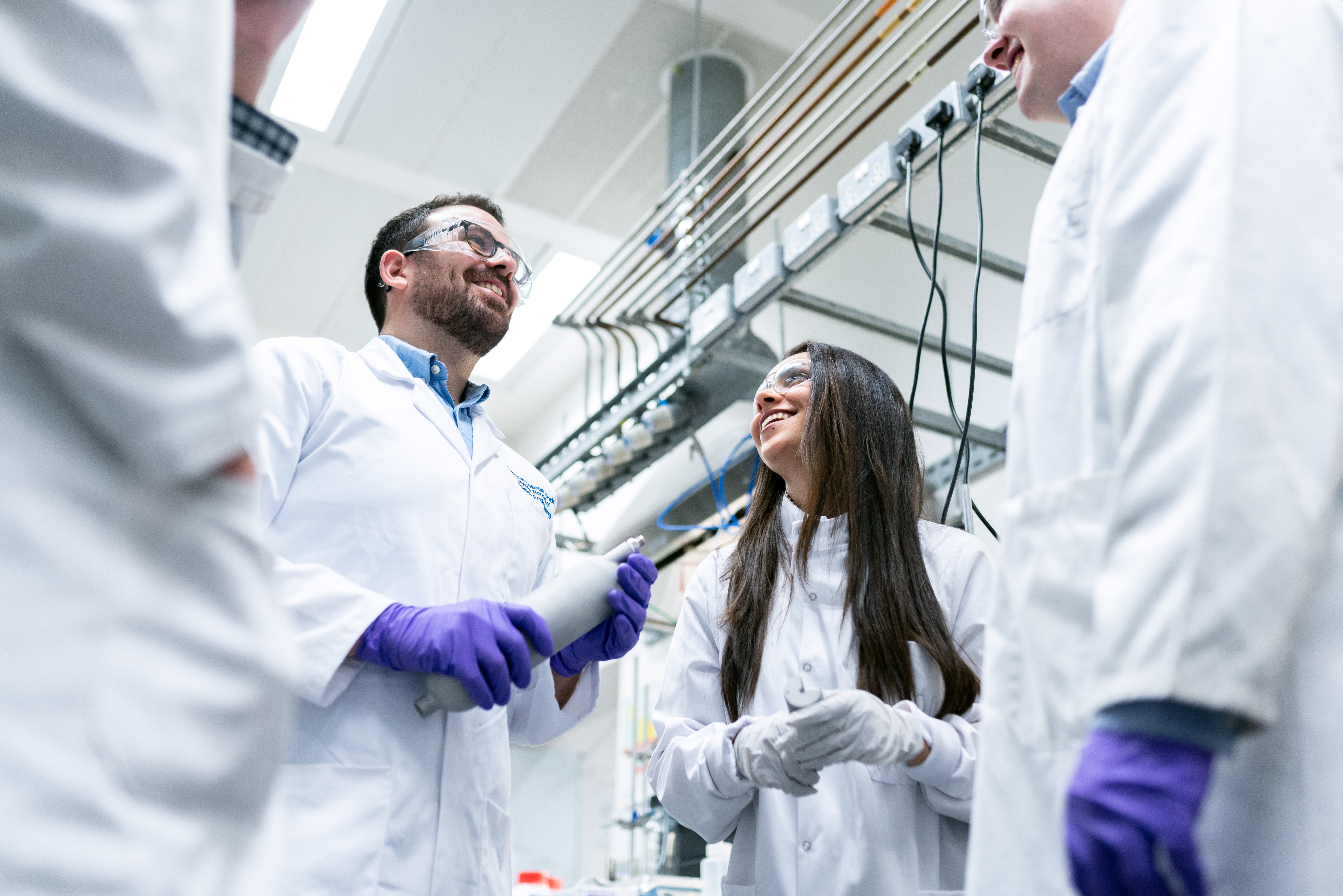 Pictured - Chemical engineers in the laboratory | Source: Pexels