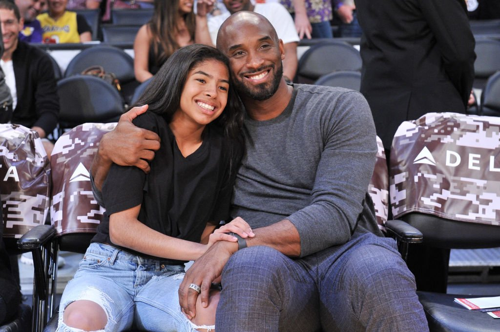 Kobe Bryant and his daughter Gianna Bryant attend a basketball game between the Los Angeles Lakers and the Atlanta Hawks at Staples Center  | Getty Images / Global Images Ukraine
