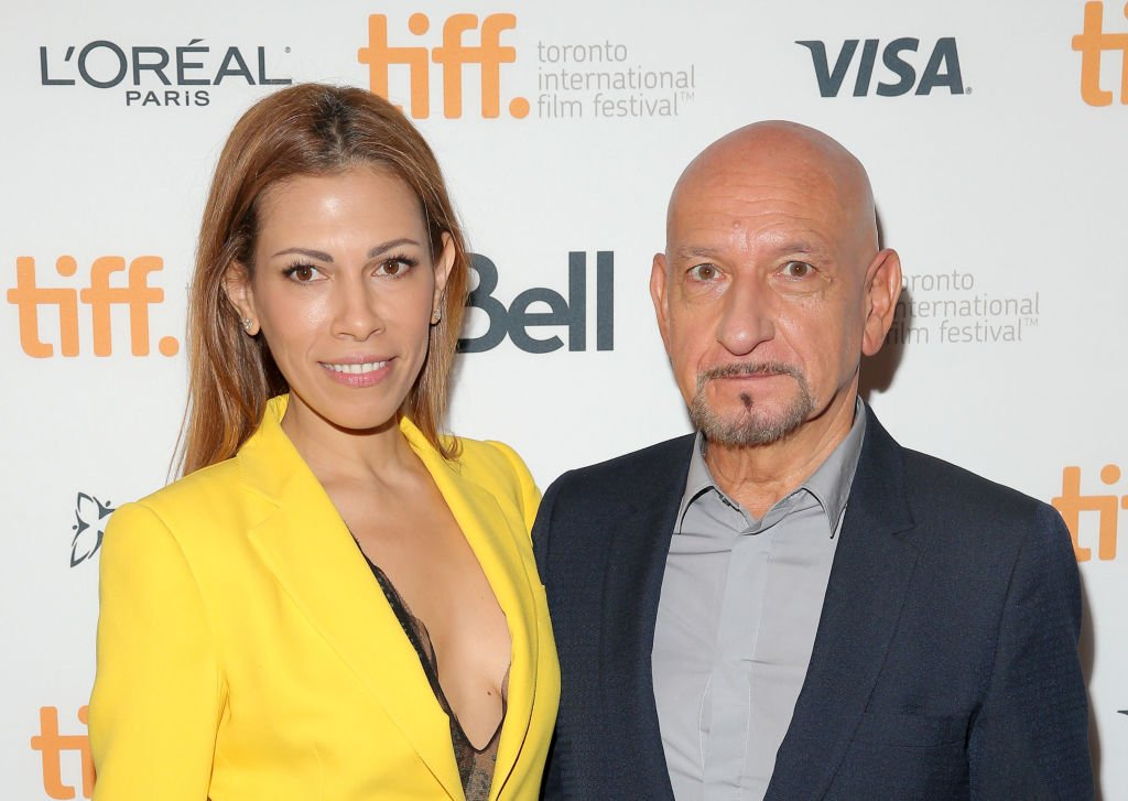 """Daniela Lavender and actor Sir Ben Kingsley attend the """"Learning to Drive"""" premiere during the 2014 Toronto International Film Festival 