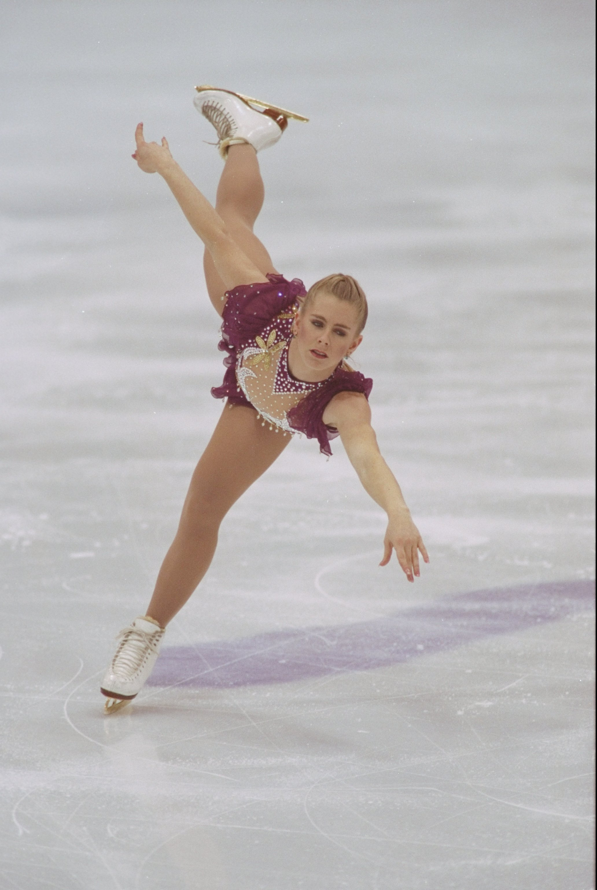 1994 Winter Olympics, Tonya Harding performs in Hamar, Norway | Source: Gety Images