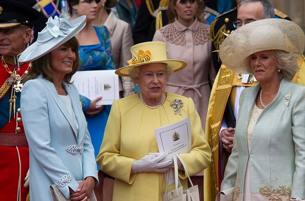 Carole Middleton, Queen Elizabeth ll, and Camilla at Westminster Abbey on April 29, 2011. | Photo: Getty Images