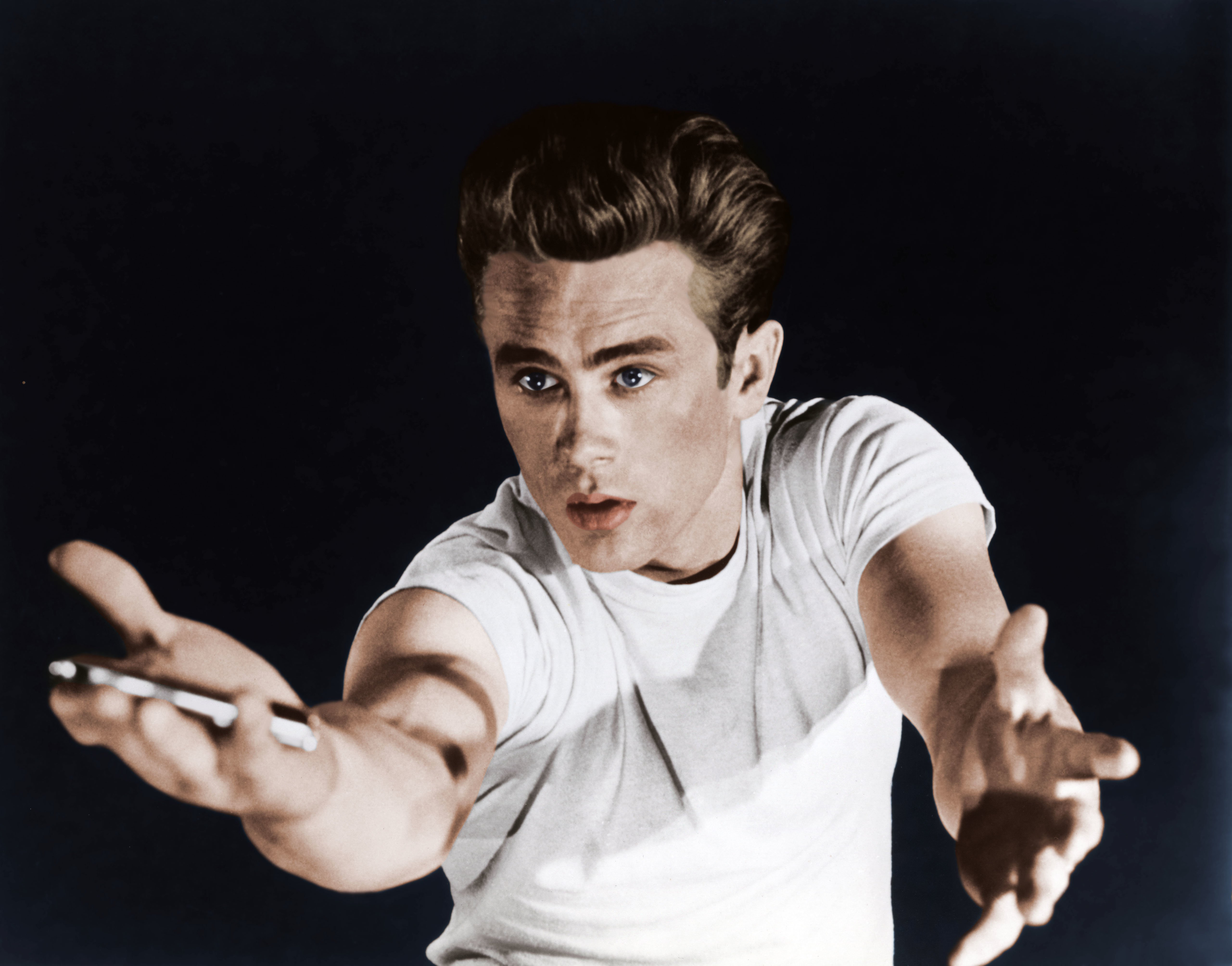 American actor James Dean on the set of Rebel Without a Cause, directed by Nicholas Ray.| Source: Getty Images