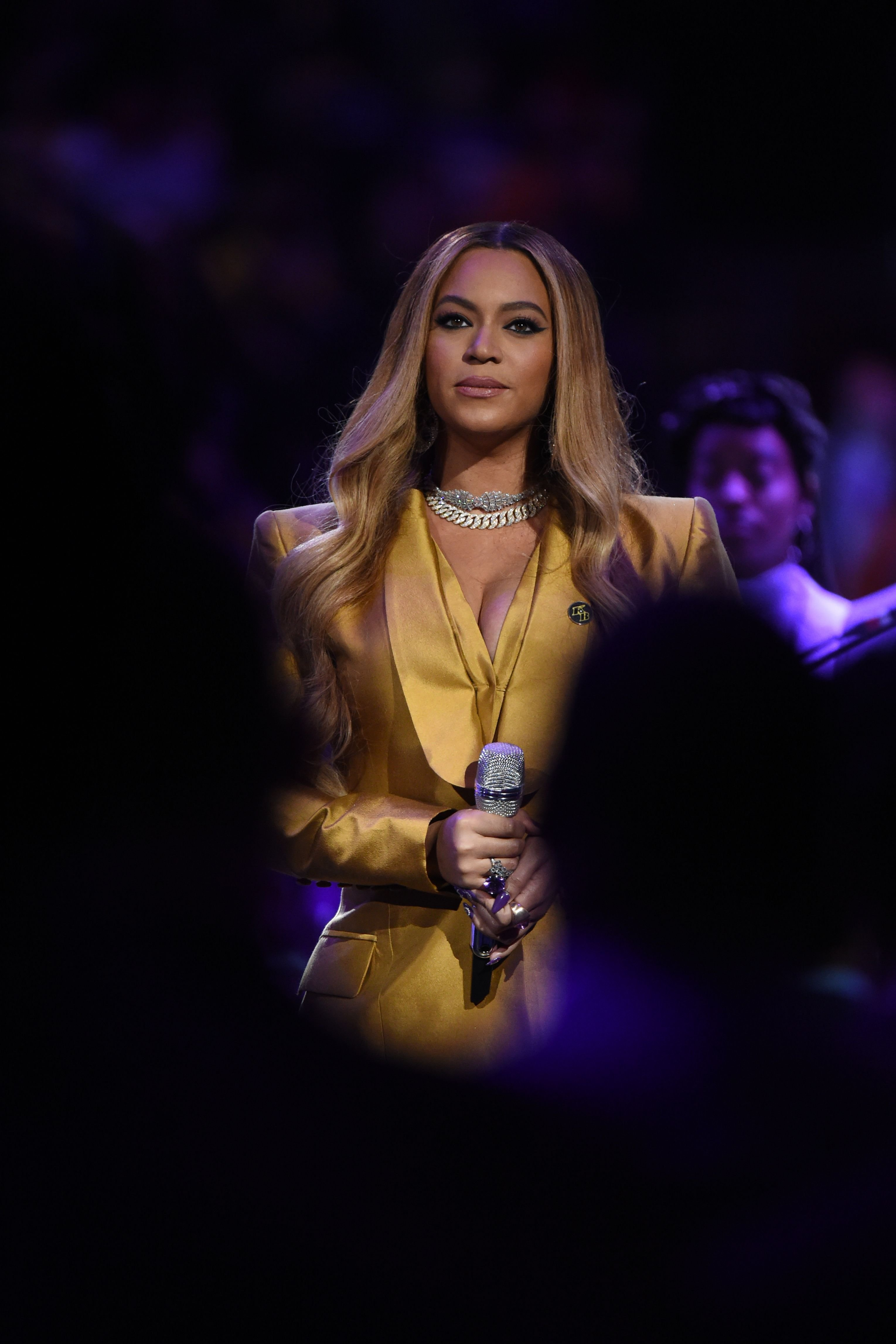 Beyoncé at the Kobe Bryant Memorial Service on February 24, 2020, at the STAPLES Center in Los Angeles, California | Photo: Getty Images