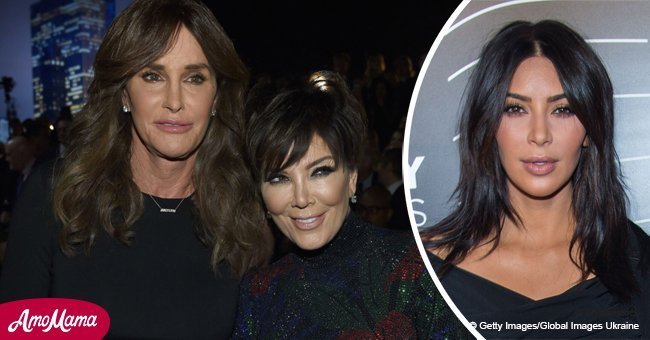 Kim Kardashian thrills fans with a rare photo of Caitlyn and Kris Jenner posing in a bathroom