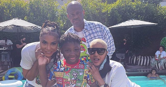 Tamar Braxton Strikes a Pose with Slimmed-down Ex-husband Vince Herbert on Their Son's B-Day