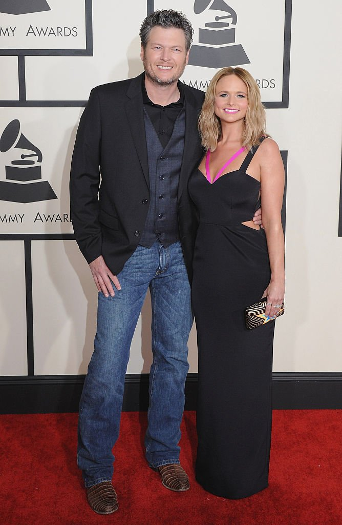 Blake Shelton and Miranda Lambert pose for a photo at the 57th GRAMMY Awards at Staples Center on February 8, 2015 in Los Angeles, California. | Photo: Getty Images.