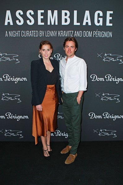 Princess Beatrice of York and Edoardo Mapelli Mozzi attend the Lenny Kravitz & Dom Perignon 'Assemblage' exhibition | Photo: Getty Images