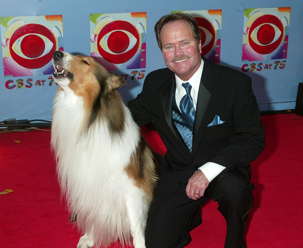 Lassie and Jon Provost during CBS at 75 at Hammerstein Ballroom in New York City on November 02, 2003. | Photo: Getty Images