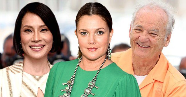 """Former """"Charlie's Angels"""" stars Lucy Liu, Drew Barrymore, and Bill Murray. 