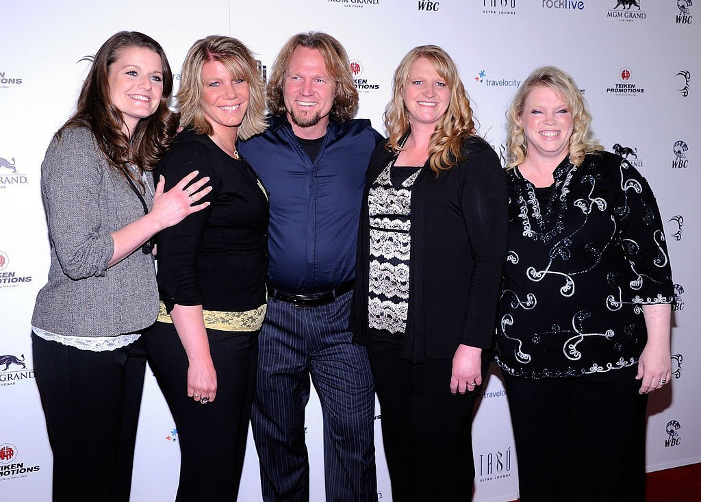 "Robyn Brown, Meri Brown, Kody Brown, Christine Brown and Janelle Brown from ""Sister Wives"" arrive at the grand opening of Mike Tyson's one-man show ""Mike Tyson: Undisputed Truth - Live on Stage""  