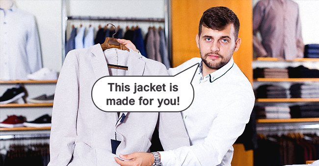 Daily Joke: Salesman Challenges Himself to Try and Sell a Cheap Suit to a Reluctant Customer