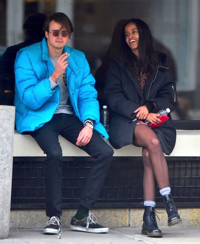 Rory Farquharson and Malia Obama spotted in New York City in January 2018.  | Photo: Getty Images