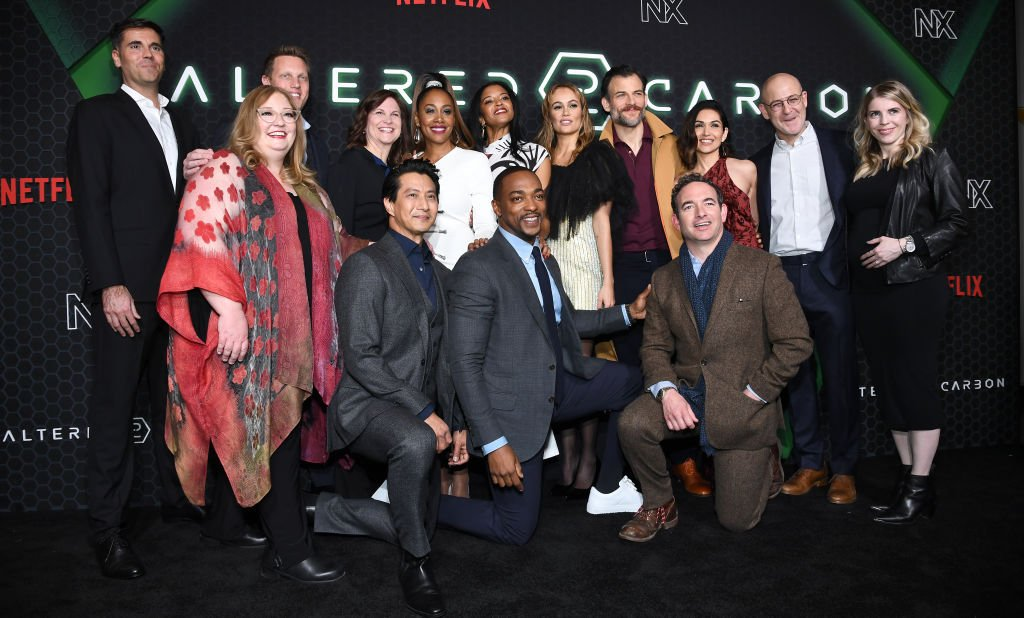 """The cast of """"Altered Carbon"""" attend Netflix's """"Altered Carbon"""" season 2 photo call, February 2020
