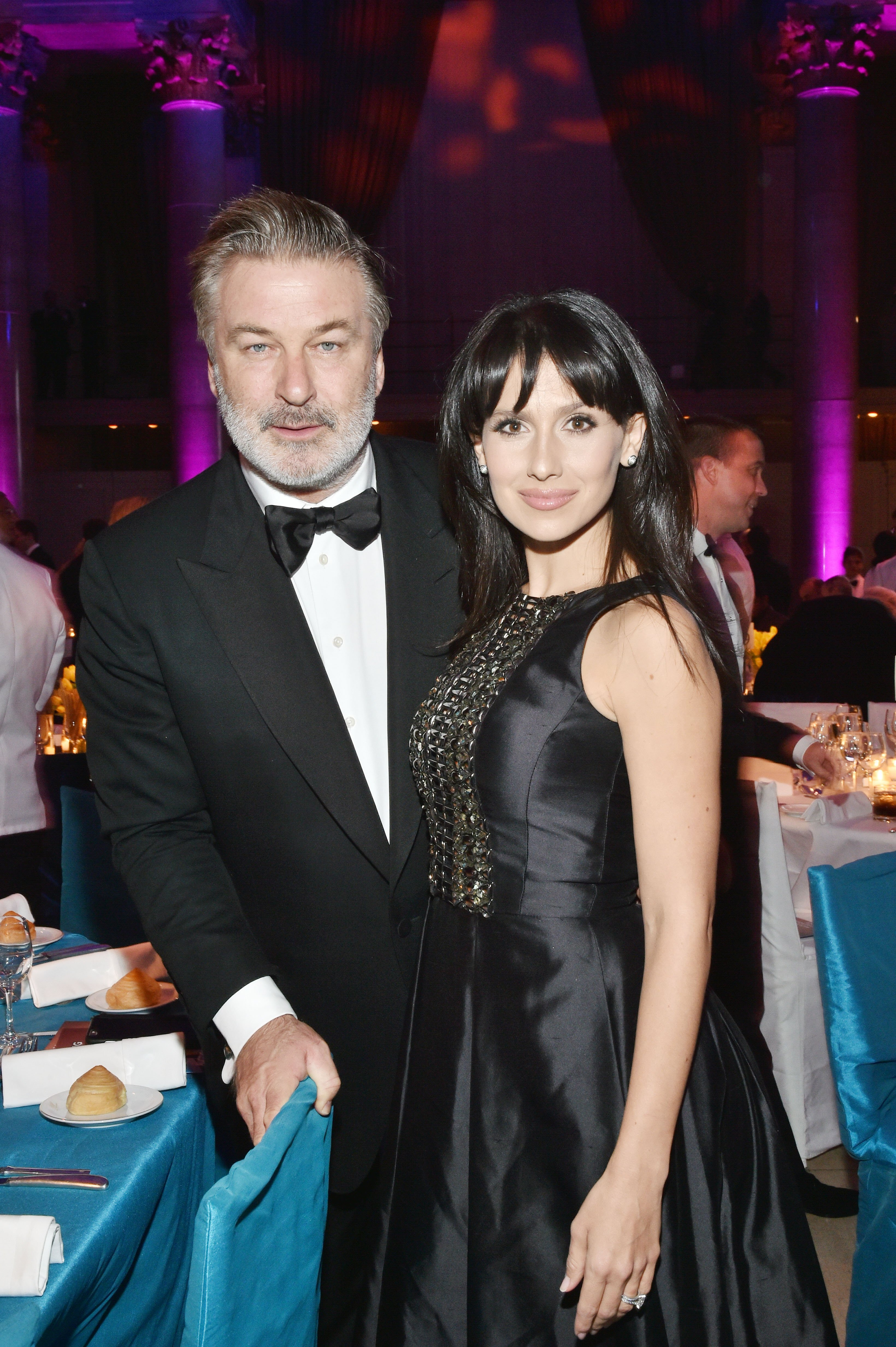 Alec Baldwin (L) and Hilaria Baldwin (R) attend Elton John AIDS Foundation's 14th Annual An Enduring Vision Benefit at Cipriani Wall Street on November 2, 2015, in New York City. | Source: Getty Images.