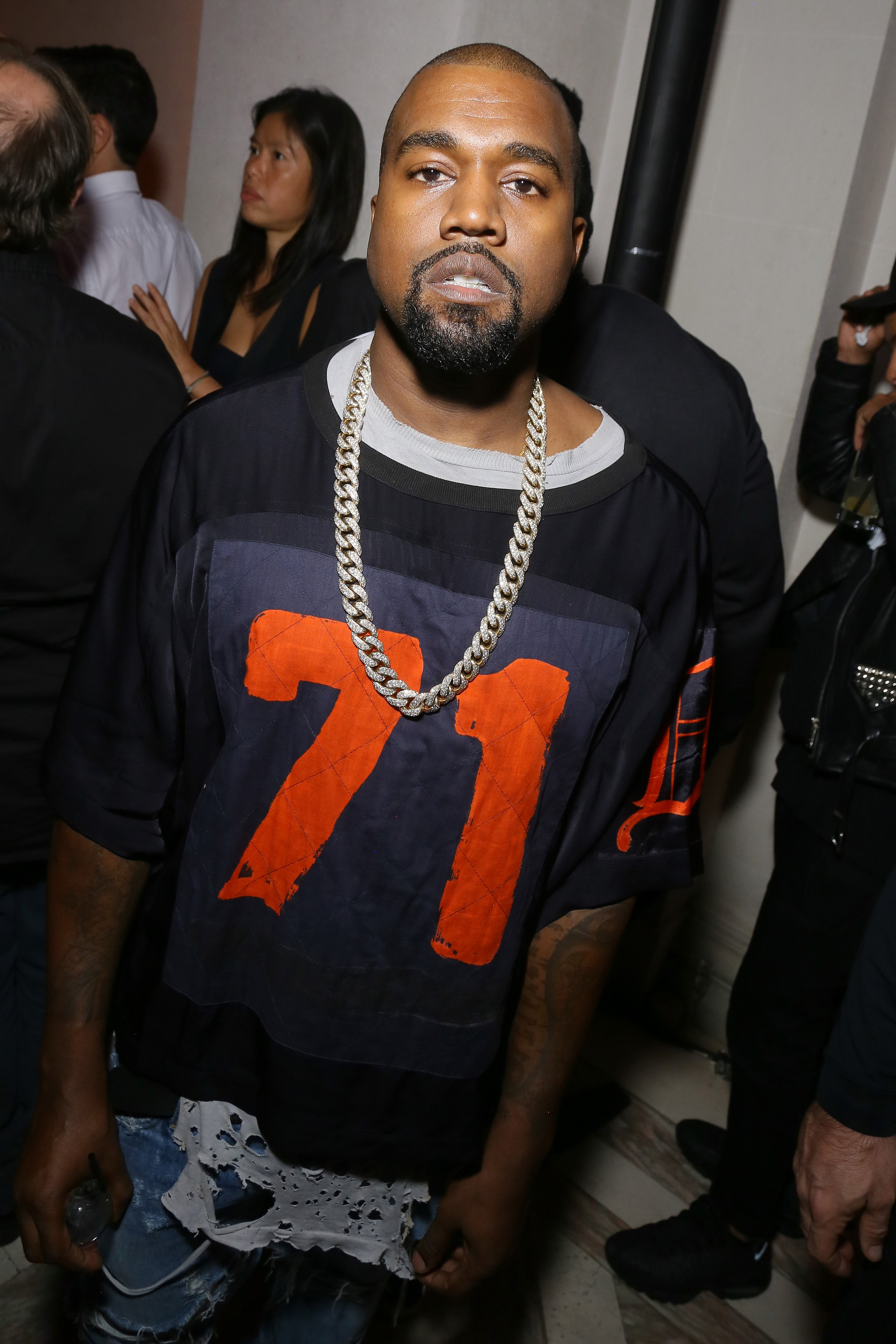 Kanye West attends Vogue 95th Anniversary Party on October 3, 2015 in Paris, France. | Source: Getty Images