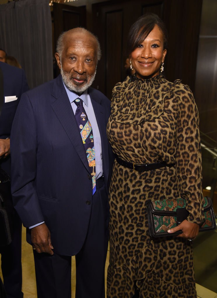 Clarence Avant  and Nicole Avant attend the Pre-GRAMMY Gala on February 9, 2019 in Beverly Hills, California | Photo: Getty Images