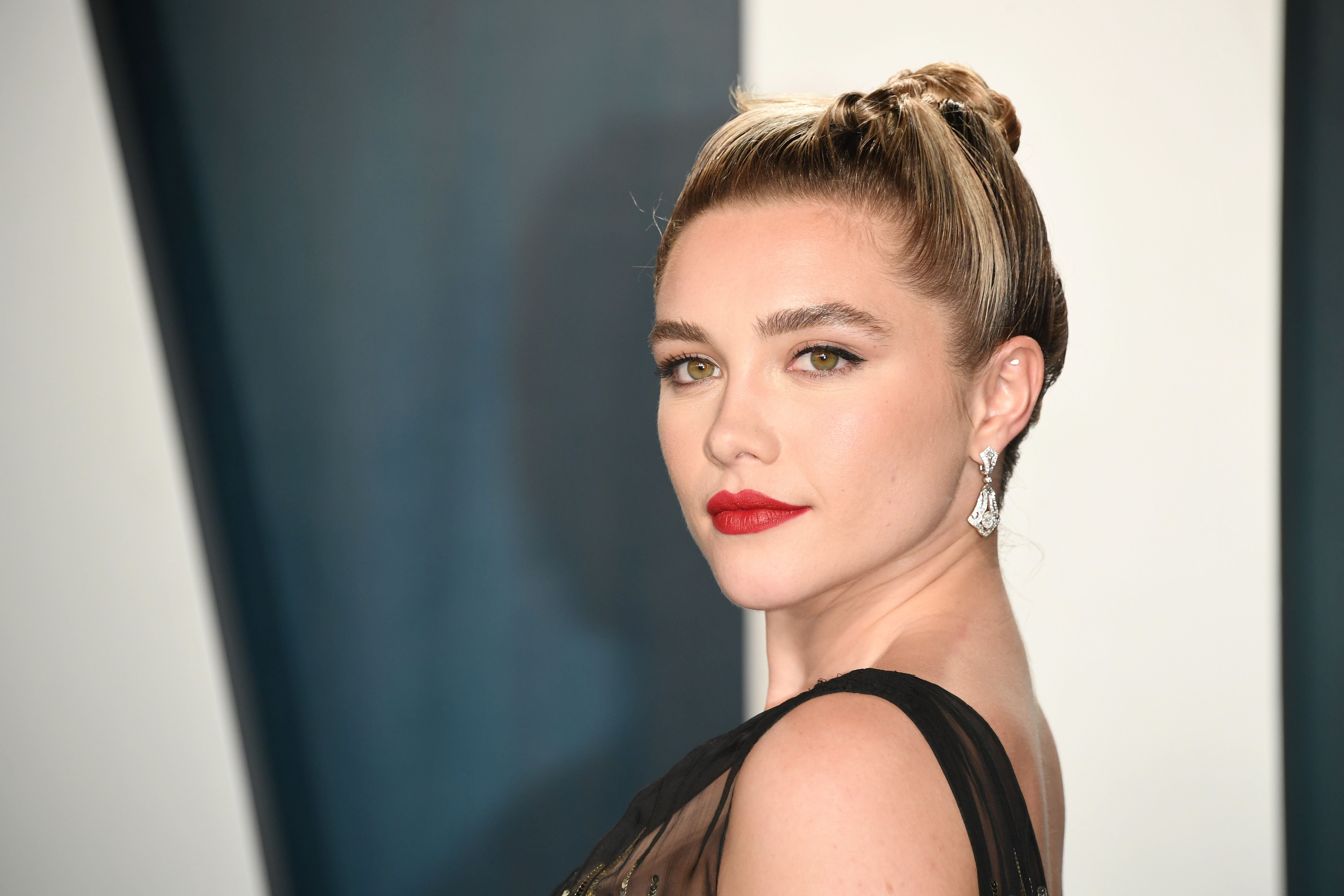 Florence Pugh at the 2020 Vanity Fair Oscar party on February 09, 2020 in Beverly Hills, California   Photo: Getty Images