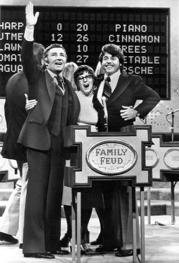 "Photo of Richard Dawson and contestants from the television game show ""Family Feud,"" circa 1970s. 