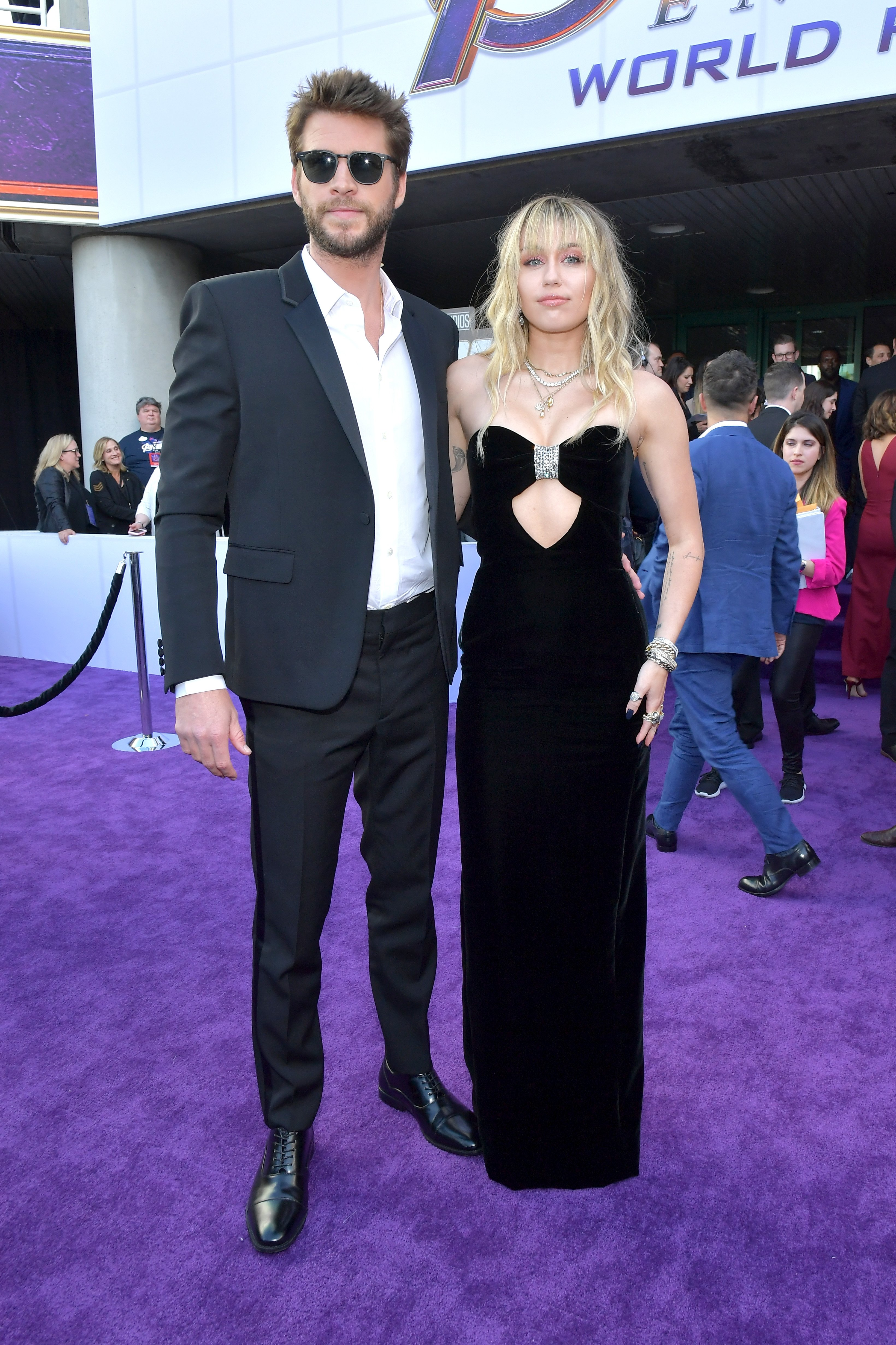 "Liam Hemsworth and Miley Cyrus at the world premiere of Walt Disney Studios Motion Pictures ""Avengers: Endgame"" at the Los Angeles Convention Center on April 22, 2019 in California 