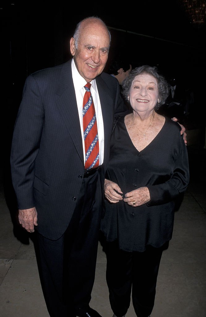 Carl Reiner and Estelle Reiner during Spirit of Liberty Awards on October 20, 1999 | Photo; Getty Images