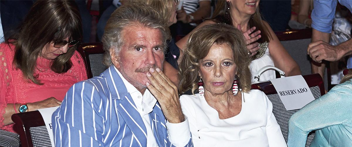María Teresa Campos y Bigote Arrocet interrumpen bruscamente sus vacaciones en Marbella