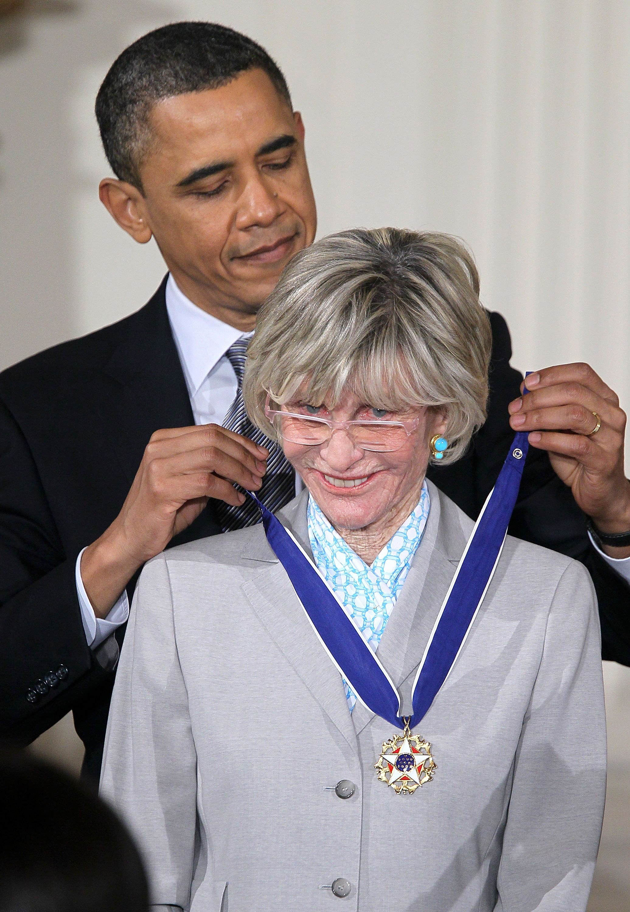ean Kennedy Smith is presented with the 2010 Medal of Freedom by U.S. President Barack Obama in the White House on  February 15, 2011 | Photo: Getty Images