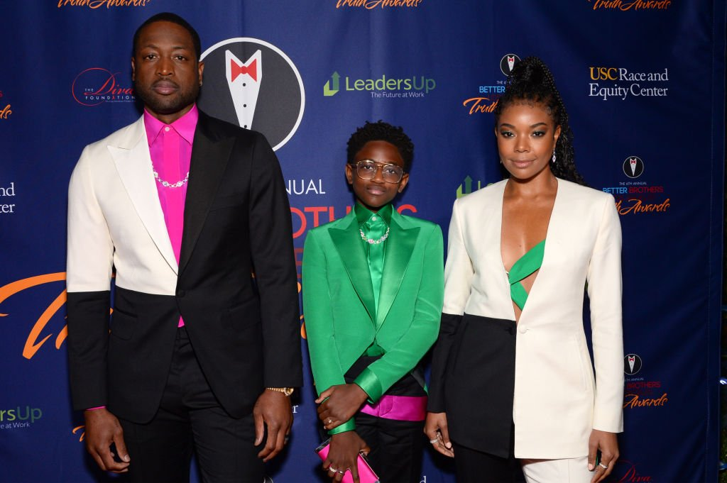 Dwyane Wade, Zaya Wade and Gabrielle Union attend the Better Brothers Los Angeles' 6th annual Truth Awards | Photo: Getty Images