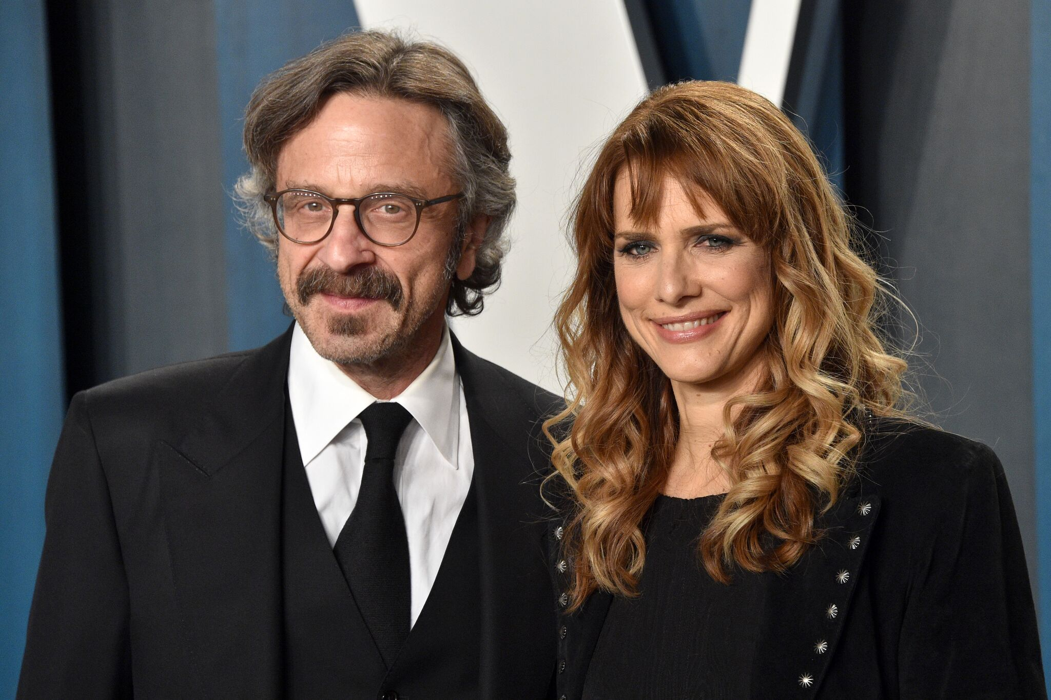 Marc Maron and Lynn Shelton at the 2020 Vanity Fair Oscar Party on February 09, 2020. | Photo: Getty Images