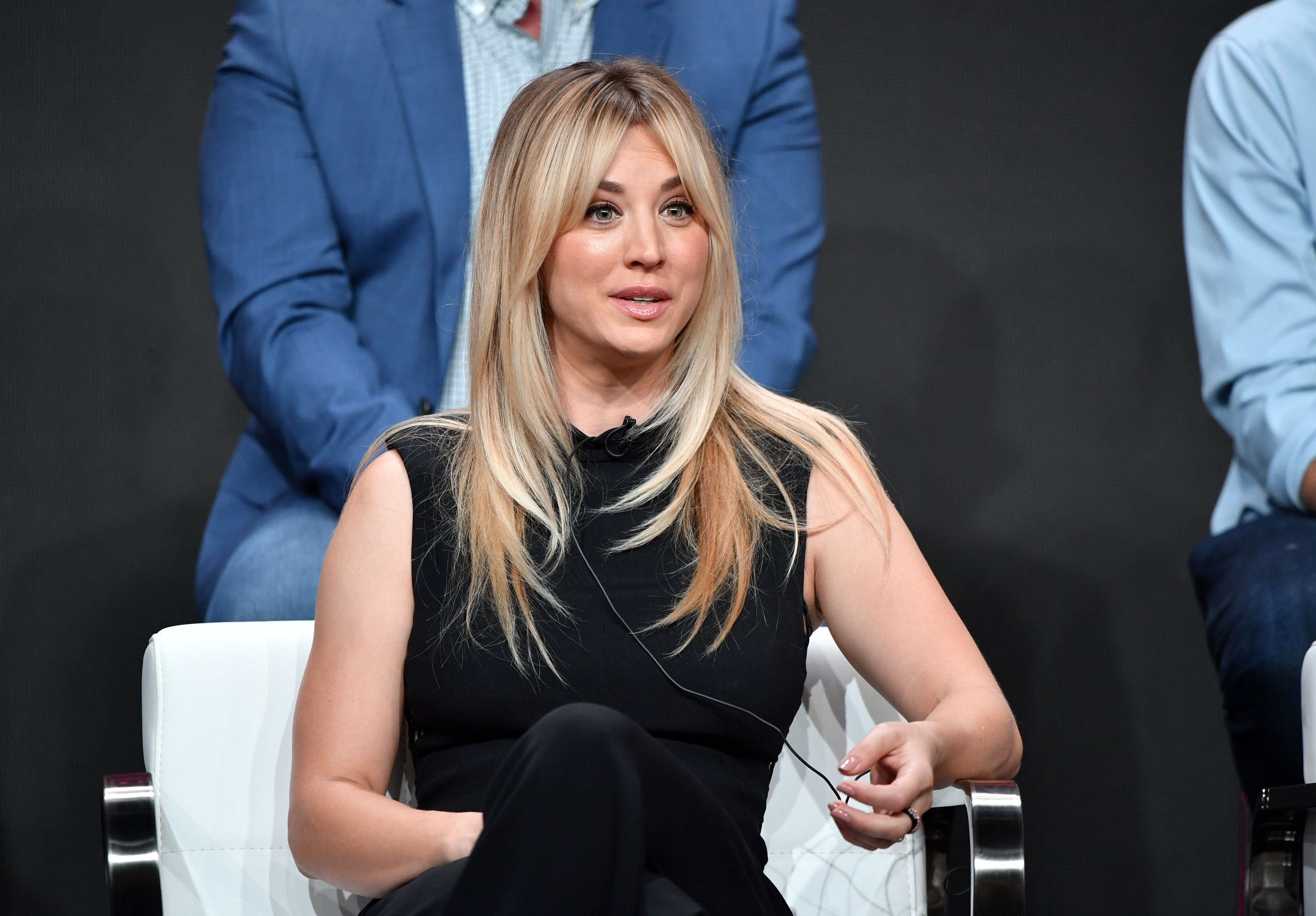 Kaley Cuoco at the DC Universe panel at the 2019 Summer TCA Press Tour on July 23, 2019 | Photo: Getty Images
