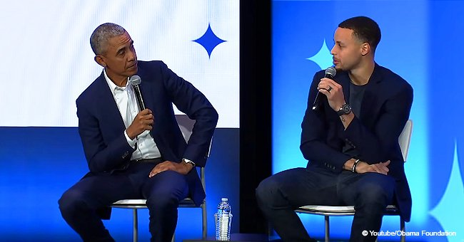 Barack Obama and Stephen Curry talk to minority boys during 5th anniversary of My Brother's Keeper event