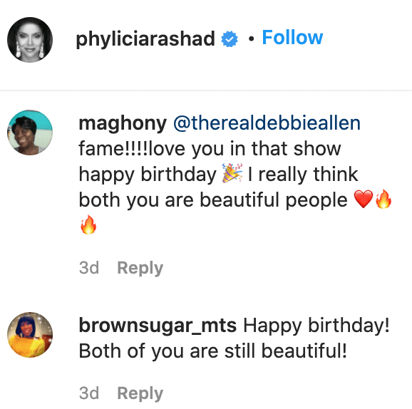 Fans' comments on Phylicia Rashad's post. | Source: Instagram/phyliciarashad