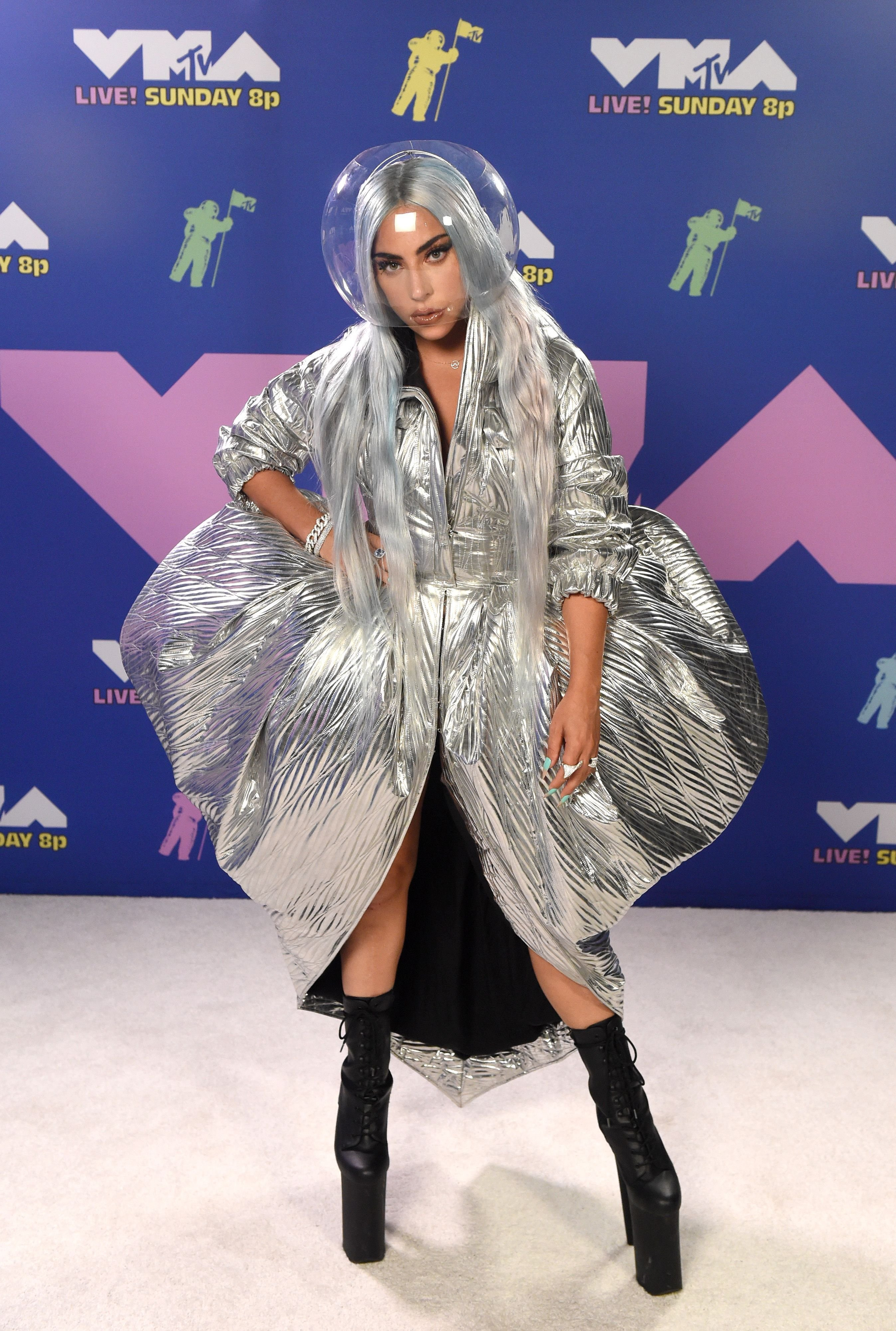 Lady Gaga at the 2020 MTV Video Music Awards on August 30th 2020   Getty Images