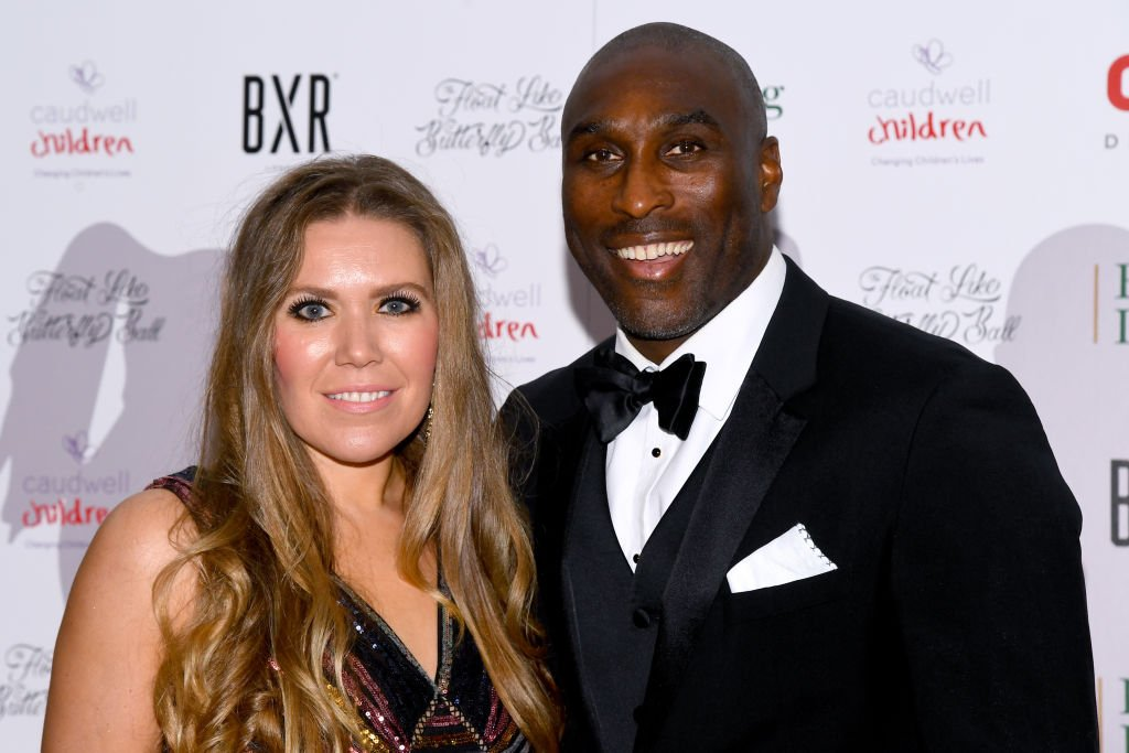 Sol Campbell and Fiona Barratt during the Float Like A Butterfly Ball for Caudwell Children VIP drinks reception at The Grosvenor House Hotel on November 16, 2019. | Photo: Getty Images