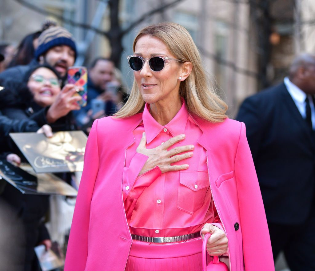 Celine Dion seen on the streets of Lower Manhattan on March 7, 2020 | Getty Images