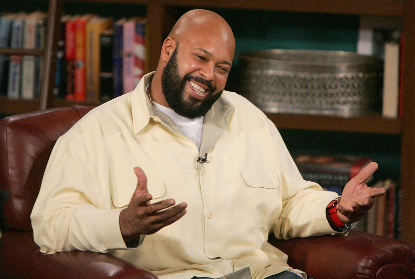"""Suge Knight appears at CBS Studios for a taping of """"The Late Late Show"""" on November 18, 2004 in Los Angeles, California. 