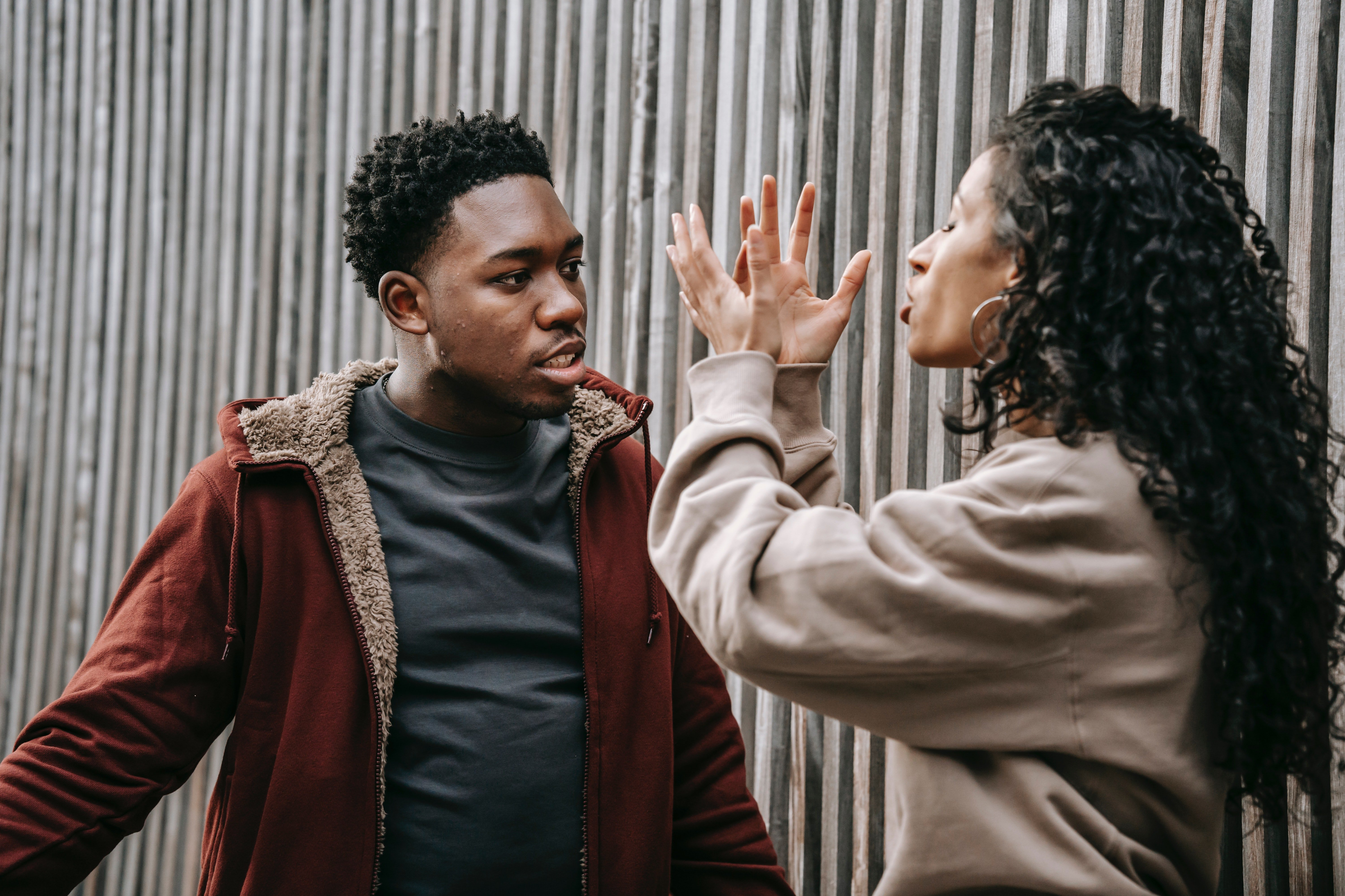 Young man and woman arguing   Source: Pexels