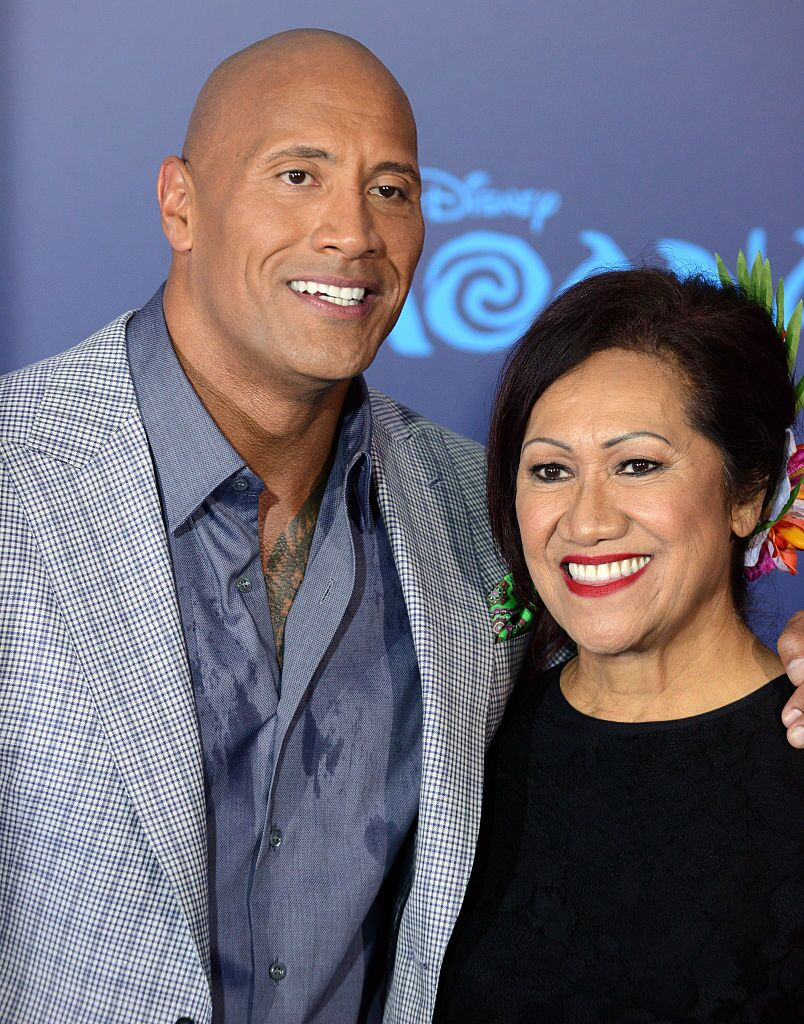 Actor Dwayne Johnson and mother Ata Johnson arrive for the AFI FEST 2016 Presented By Audi | Getty Images