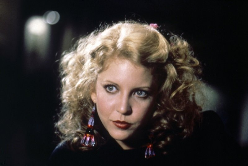 """Nancy Allen on the set of """"Dressed to Kill"""" circa 1980 